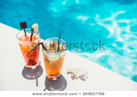 Hozzávalók nyár koktél kreatív elrendezés limonádé Stock fotó © YuliyaGontar