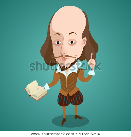 Shakespeare Cartoon Character Stock photo © Krisdog