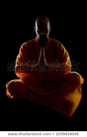 Szerzetes vicces izmos férfi háttér kínai Stock fotó © leedsn