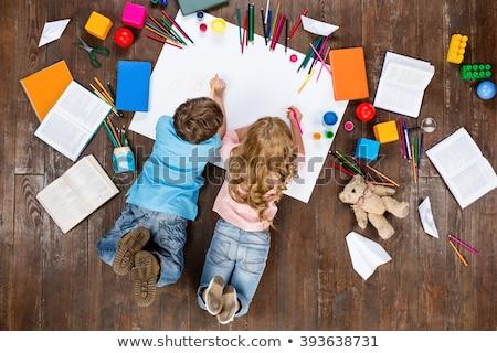 счастливым · Creative · дети · ремесла · домой - Сток-фото © dolgachov