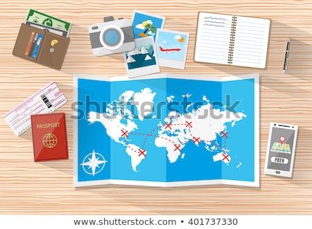 global · seyahat · adam · kadın - stok fotoğraf © robuart