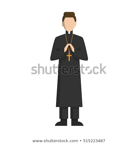 Happy Cartoon Priest Stock photo © cthoman
