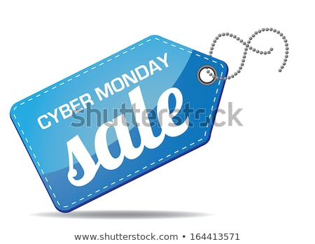 cyber monday sales tag vector grouped for easy editing sale discount advertising marketing pri stock photo © olehsvetiukha