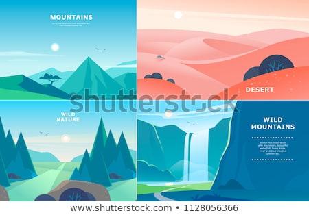 natureza · água · caverna · paisagem · ilustração · céu - foto stock © colematt