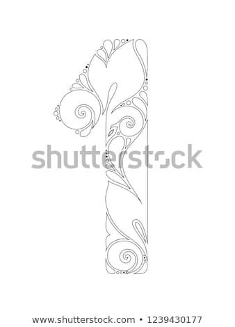 Monocromático decorativo rabisco indiano Foto stock © lissantee
