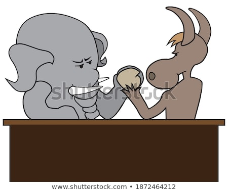 Cartoon Goofy Elephant Stock photo © cthoman