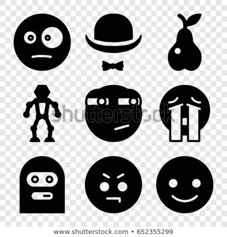 Cartoon arrabbiato ladro robot guardando maschera Foto d'archivio © cthoman