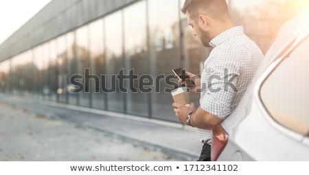 feliz · hombre · barba · gafas · de · sol · calle · de · la · ciudad · estilo · de · vida - foto stock © dolgachov