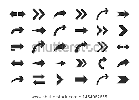 Arrow Designed Pointer Back Down Isolated Vector Stock photo © robuart