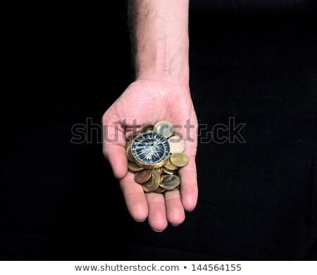Businessman hold piles of money. Concept of success and company growth Stock photo © alphaspirit
