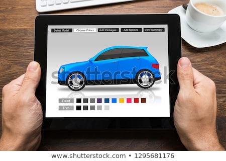Photo stock: Homme · voitures · couleur · numérique · comprimé