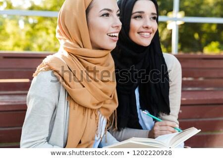 Fotografia piękna arabskie kobieta chusta Zdjęcia stock © deandrobot
