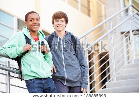 小学校 · クラス · 外 · 立って · 子供 · 学校 - ストックフォト © lopolo