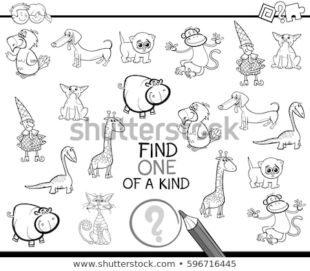 one of a kind game with kids color book Stock photo © izakowski