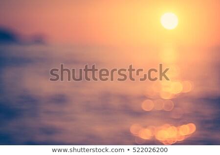 расплывчатый изображение морской пейзаж закат Vintage небе Сток-фото © dariazu