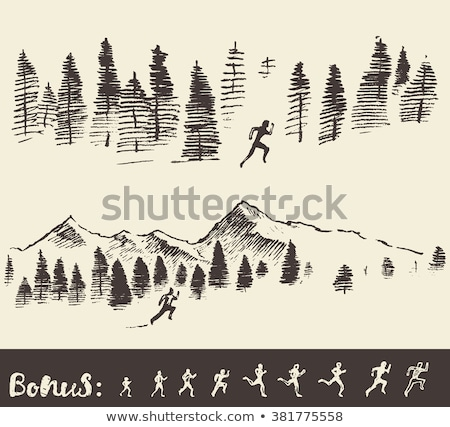 Gruppo giovani eseguire maratona foresta natura Foto d'archivio © boggy