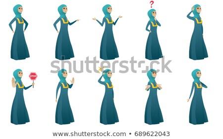 бизнеса арабских женщину остановки жест Сток-фото © NikoDzhi