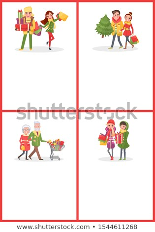 Christmas winkelen web tekst monster Stockfoto © robuart