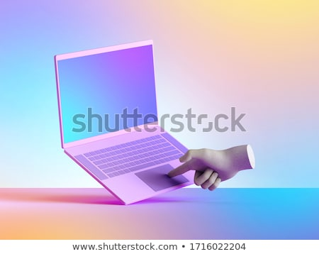 hands typing on computer laptop stock photo © kurhan