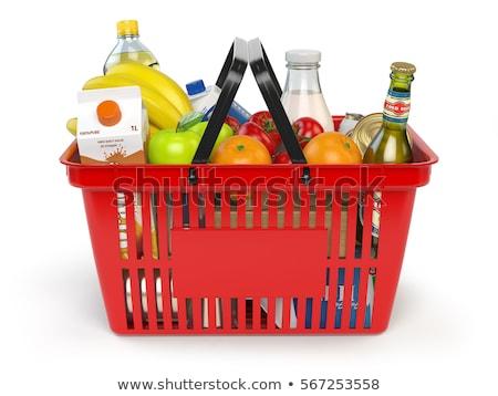 piros · műanyag · vásárlás · szerszám · szennyes · konténer - stock fotó © djmilic