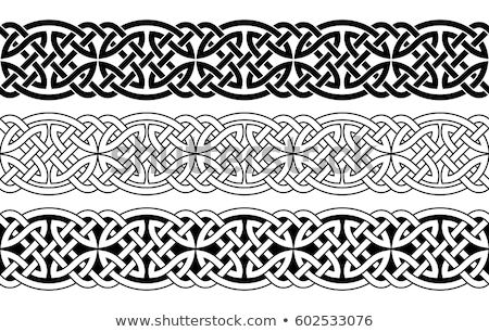 Celtic bezszwowy zestaw pięć biały Zdjęcia stock © unweit