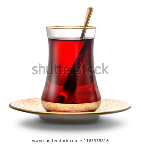 Csésze török teáscsésze tea felszolgált hagyományos Stock fotó © grafvision