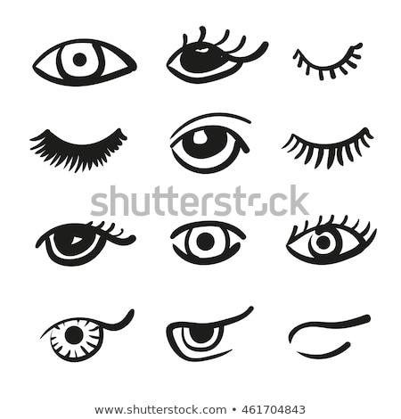 рисованной глазах набор человека женщину изолированный Сток-фото © netkov1
