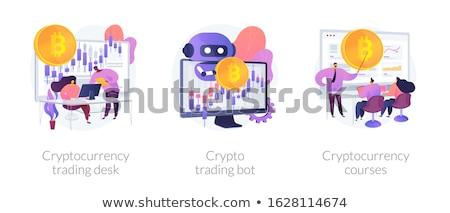 bitcoin · markt · analyse · ontwerp · stijl · web - stockfoto © rastudio