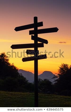 Seta direção projeto fundo quadro Foto stock © Suriyaphoto