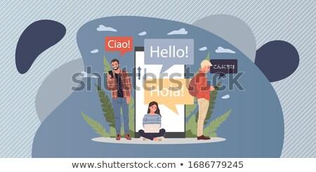 Buitenlands talen kinderen leren digitale klas Stockfoto © RAStudio