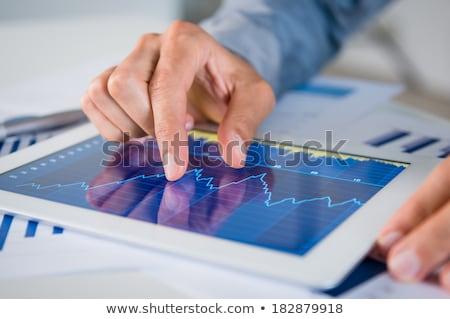 zakenman · handen · werken · digitale · smart - stockfoto © freedomz