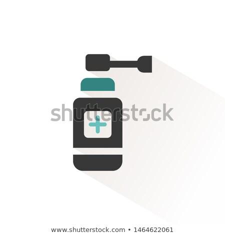 Ear spray icon with beige shadow. Vector illustration Stock photo © Imaagio