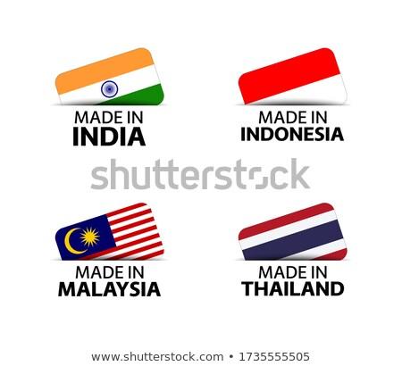 yaratıcı · Hint · bayrak · dizayn · şerit · mutlu - stok fotoğraf © SArts
