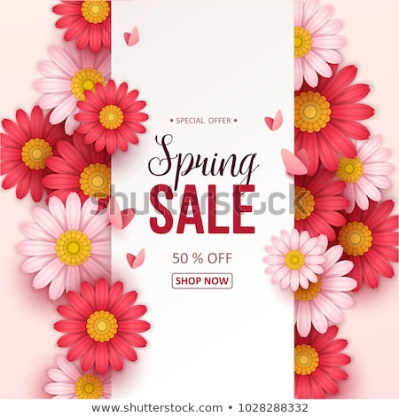 Discount and New Offer, Spring Sale Labels Flowers Stock photo © robuart