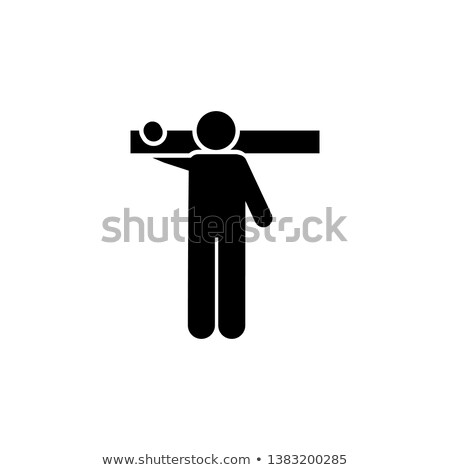 Builders Carrying and Sawing Log, Timber Vector Stock photo © robuart