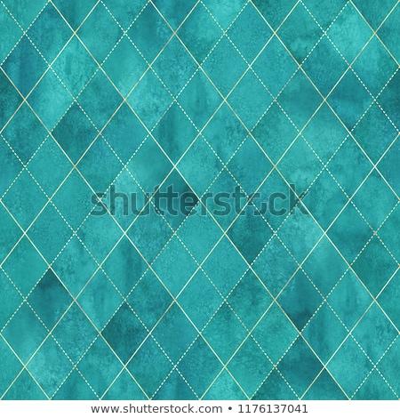 Abstrato azul turquesa contorno linhas mapa Foto stock © SArts