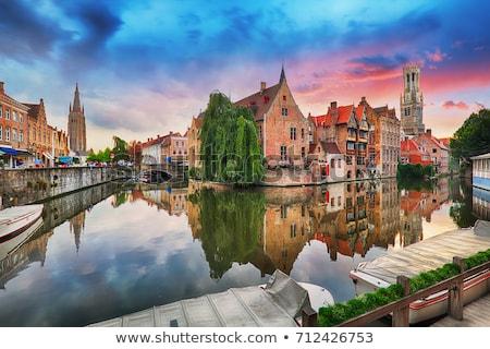 Calle Bélgica histórico casas ciudad centro Foto stock © borisb17