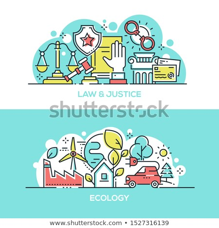 Law and justice and ecology protection banner template Stock photo © Decorwithme