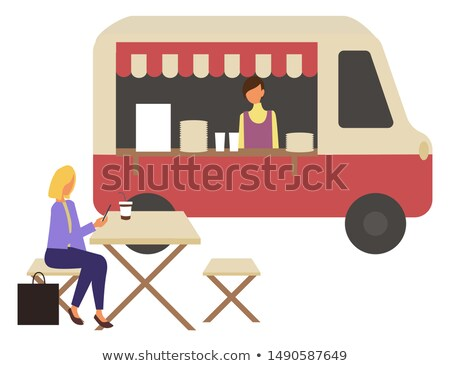 Marketplace, Fast Food Trolley and Cafe, Takeaway Stock photo © robuart