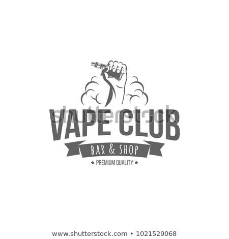 Elettronica sigaretta fumare tattoo cartoon stile Foto d'archivio © patrimonio