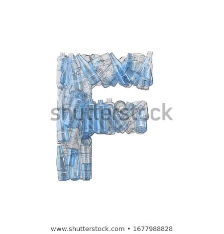 Letter F made of plastic waste bottles Stock photo © lightkeeper