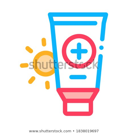 Solar Healthcare Gel Icon Vector Outline Illustration Stock photo © pikepicture