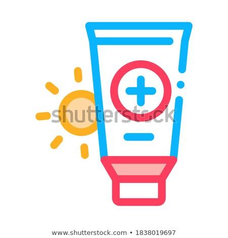 Nap egészségügy gél ikon vektor skicc Stock fotó © pikepicture