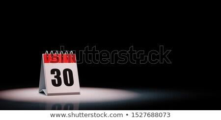 календаря черный день 30 красный белый Сток-фото © make