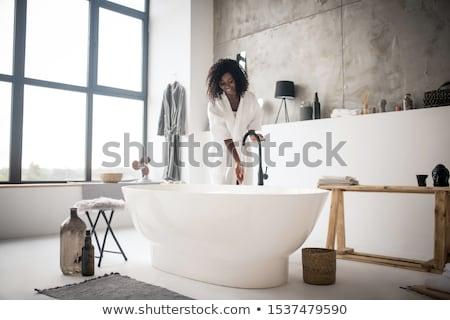 Foamy hot bath in a modern bathroom Stock photo © lightpoet