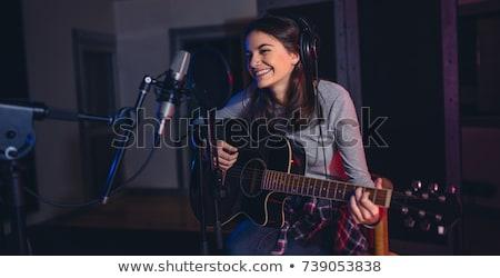 Cantante professionali suono studio cantare musica Foto d'archivio © Kzenon