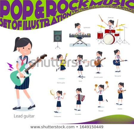 school girl Sailor suit summer_pop music Stock photo © toyotoyo