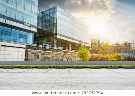 Glass facade of a modern office building Stock photo © elxeneize