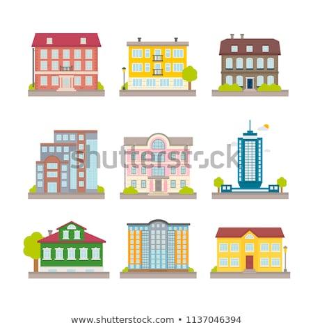 Vektor öreg kunyhó épület színes illusztráció Stock fotó © karetniy