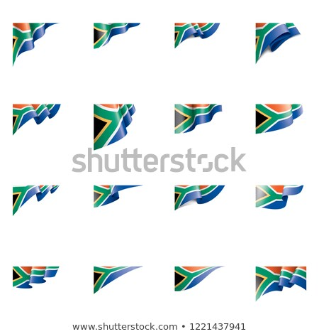 East and South African States Waving Flag Set Stock photo © nazlisart